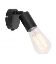 Aplica de perete Globo Martha 54008-1, Clasa A++, Bec LED maxim 60 W nu este inclus, Fara abajur, Negru
