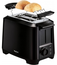 Prajitor de paine Tefal Uno TT1408, Putere 800 W, 7 trepte de putere, Gratar chifle, Negru