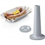 Masina de tocat carne Bosch MFW67440, Putere 2000 W, Capacitate 3.5 Kg/min, 3 site, Accesoriu carnati, Negru