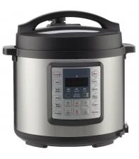 Multicooker Gorenje MC6MBK, Putere 1000 W, Capacitate 6 l, 15 programe de gatit, Gatire cu presiune, Argintiu