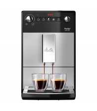 Espressor automat Melitta Purista F230-101, 1400 W, 1.2 l, 3 setari intensitate, Sistem Aroma Extraction, Argintiu