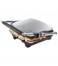 Sandwich-Maker Breville Panini Large VST026X-DIM, Putere 2000 W, Placi antiaderente plate, Argintiu