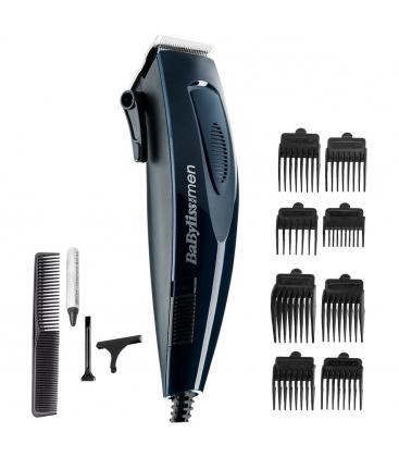 Aparat de tuns BaByliss Corded Hair Clipper E695E, 5 trepte de taiere (3-25 mm), 8 accesorii, Albastru