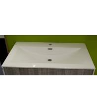 Lavoar compozit pentru mobilier Xante, Dimensiune 140 x 800 mm, Material compozit, Alb