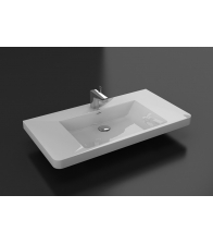 Lavoar ceramic pentru mobilier Happy, Dimensiuni 14 x 60 x 42, Alb