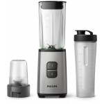 Blender Philips HR2605/80, Putere 350 W, Capacitate 0.9 l, 2 viteze, Zdrobire gheata, Recipient on-the-go, Argintiu