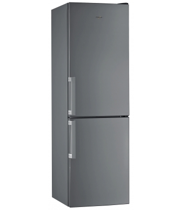 Combina frigorifica Whirlpool W5811EOXH, Clasa A+, Capacitate 339 l, 6th Sense, Less Frost, H 189 cm, Inox