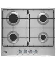 Plita incorporabila Beko HIAG64223SX, Gaz, 4 arzatoare, Aprindere electrica, Siguranta, High-Efficiency™ Gas Burner, Inox