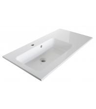 Lavoar Sanotechnik Soho, Dimensiuni 50 x 93 x 18, Marmura artificiala, Alb