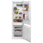 Combina frigorifica incorporabila Beko BCSA285K3SN, Clasa A+, Capacitate 271 l, Termostat reglabil, H 177.5, Alb