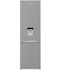 Combina frigorifica Beko RCSA406K40DXBN, Clasa E, Capacitate 386 l, Termostat reglabil. Dozator de apa, H 202.5, Argintiu