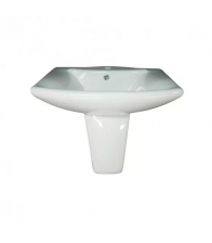 Lavoar Sanotechnik Style L1905, Dimensiuni 60 x 50 x 22 cm, Ceramica, Alb
