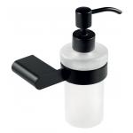 Dozator de sapun lichid Ferro Naty Black 66655.5, Capacitate 0.22 l, Negru