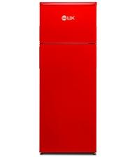 Frigider cu doua usi LDK LF 220 RED N, Clasa F, Capacitate 213 L, H 144 cm, Rosu