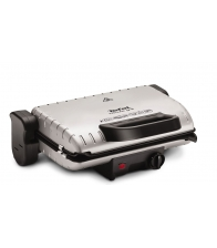 Gratar electric Tefal GC2050, Putere 1600 W, Placi antiaderente detasabile, Argintiu