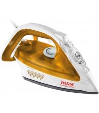 Fier de calcat cu abur Tefal Ultimate Pure FV3940, Putere 2400 W, Capacitate 0.27 l, Jet de abur 140 g/min, Galben
