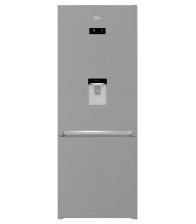 Combina frigorifica Beko RCNE560E40DZXBN, Clasa E, Capacitate 510 l, Neofrost™ Dual Cooling, Dozator apa, Everfresh+, Argintiu