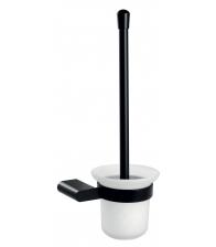 Portperie WC din sticla mata Ferro Naty Black 66633.5, Negru