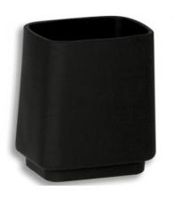 Portpahar din sticla Ferro Metalia 4 6406/1.5, Stativ sticla neagra