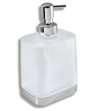 Dozator de sapun lichid Ferro Metalia 4 6450/1.0, Capacitate 0.4 l, Sticla alba