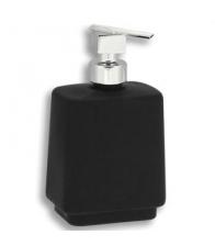 Dozator de sapun lichid Ferro Metalia 4 6450/1.5, Capacitate 0.4 l, Sticla neagra