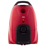 Aspirator cu sac Beko VCC5325AR, Putere 800 W, Capacitate 3.2 l, Filtru HEPA 12, SmartSense, Rosu