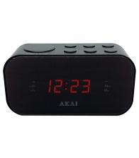 Radio cu ceas Akai ACR-3088, Ecran LED 1.5 cm, Alarma duala cu radio sau buzzer, Functie Sleep, Functie Snooze, Negru
