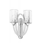 Aplica de perete Avonni AP-1660-1BSY, 60 W, Metal-sticla, Soclu E27, Negru