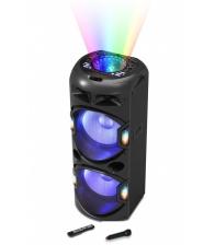 Boxa Portabila AKAI DJ-Y5L, Microfon Wireless, Lumini discoteca, Bluetooth, Cititor de carduri, USB, Radio FM, Negru
