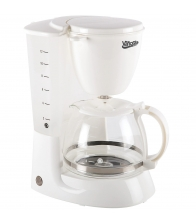 Cafetiera Vanora VCM-800 WH, Putere 750W, Capacitate 1.25 L, Functie anti-picurare, Mentinere cald, Alb