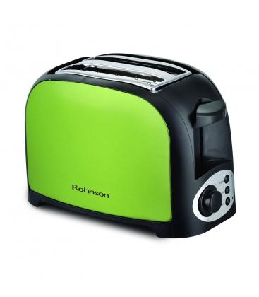 Prajitor paine Rohnson R2170, Putere 750 W, 7 niveluri de prajire, Functie dezghetare, Verde