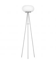 Lampadar cu 3 picioare Eglo Optica 86817, 2x 60 W, Otel, Nichel Mat