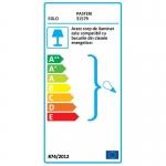 Lustra Eglo Murcia 91005, 3 becuri x 60 W, Soclu E27 ,Otel-sticla, Negru-albastru