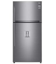 Frigider cu doua usi LG GTF916PZPYD, Clasa E, Capacitate 592 l, No Frost, Door Cooling+™, SmartThinQ™, Dozator apa, Argintiu
