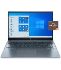Laptop HP Pavilion 15-EH0090wm, Procesor AMD Ryzen™ 5 4500U, Stocare 512GB SSD, 8GB Ram, Windows 10, Albastru