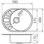 Chiuveta de bucatarie Ferro DR45/58.H, Inox satinat, Reversibila, Dimensiuni 45x58