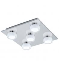 Plafoniera pentru baie Eglo Romendo 96544, LED, 5x7.2W, Dimensiun 32 x 32 cm, Crom