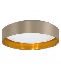 Plafoniera Eglo Maserlo 31624, LED, Diametru 40.5cm, Otel/plastic, Alb/auriu