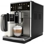 Espressor automat Saeco PicoBaristo Deluxe SM5573/10, 1.7l, Carafa lapte, Rasnita ceramica, AquaClean, Negru
