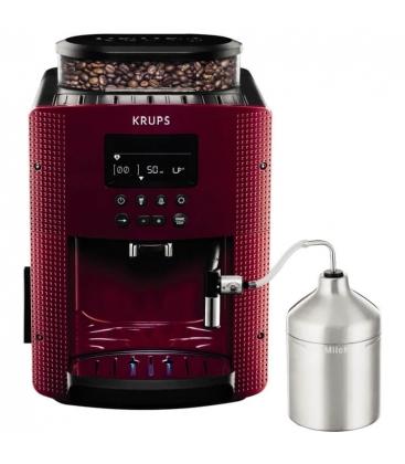 Espressor automat Krups Espresseria EA8165, Putere 1450W, Capacitate 1.7 l, 15 bar, Spumare lapte, Rosu