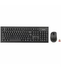 Kit tastatura + mouse A4tech 7100N, Wireless, Negru