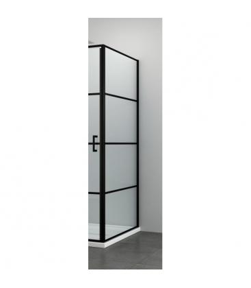 Perete dus Sanotechnik Elite Black F90B3, Dimensiuni 88.5 x 90 x 195 cm, Sticla securizata