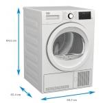 Uscator de rufe cu condensare Beko DU9139TA,Clasa B, Capacitate 9 Kg, Optisense®, Aquawave®, Alb