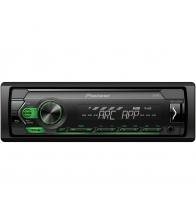 Player auto Pioneer MVH-S120UBG, 4x50W, 1DIN,  USB, ompatibil cu dispozitive Android, Lumina Verde, Negru