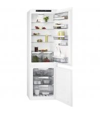 Combina frigorifica incorporabila AEG SCE818E6TS, Clasa E, Capacitate 254 l, No Frost, Compresor Inverter, TwinTech®, Alb