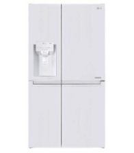 Side by Side LG GSL760SWXV, Clasa F, Capacitate 625 l, No Frost, Inverter, H 179cm, Alb