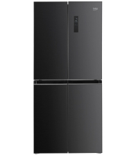 Side by Side Beko GNO4031GS, Clasa E, Capacitate 421 l, NeoFrost Dual Cooling, Prosmart Inverter, Touch, H 180 cm, Antracit