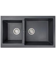 Chiuveta de bucatarie Siltal Blanco B85, Granit compozit, Dimensiuni 85 x 50 cm, Antracit