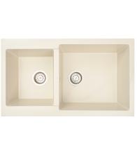 Chiuveta de bucatarie Siltal Blanco B85 Cream, Granit compozit, Dimensiuni 85 x 50 cm, Crem