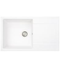 Chiuveta de bucatarie  Siltal Cuore D'oro B85 White, Granit compozit, Dimensiuni 85 x 50 cm, Alb